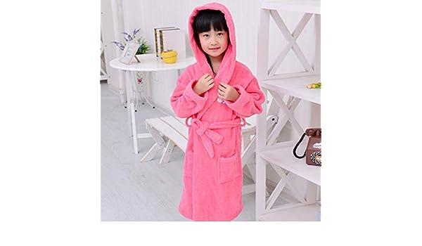 YPDM Bata,Albornoz para niños Pijama Grueso de algodón para niños ...