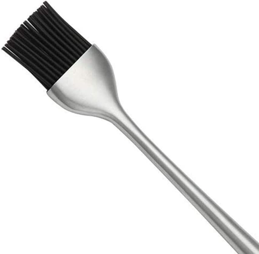 Basting Brush Stainless Steel Pastry Brush with Back up for BBQ Meat Marinating Meat Steaks