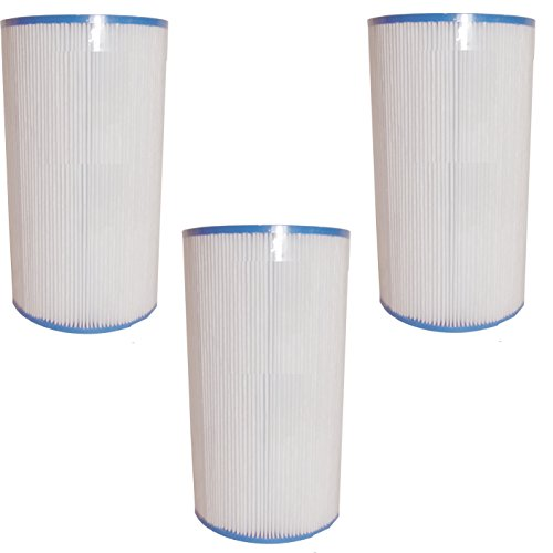 Aqua Kleen 6430-3 3 Pack 35 sq. ft. Replacement Filter Hot Spring Cartridge, White