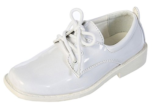 DressForLess Boys Dress Shoes, White, Y1
