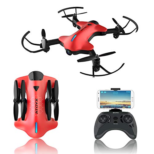 - 2019 Upgraded Drones with Camera for Adults, 720P HD Wide-Angle Lens, Real-time Live Video, RC Quadcopter with 3D Flips and a Variety of Functions, Super Easy to Flying Drone is a Fun Gift