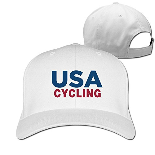 Men USA Cycling Rio Team 2016 Adjustable Fitted Caps Trucker -