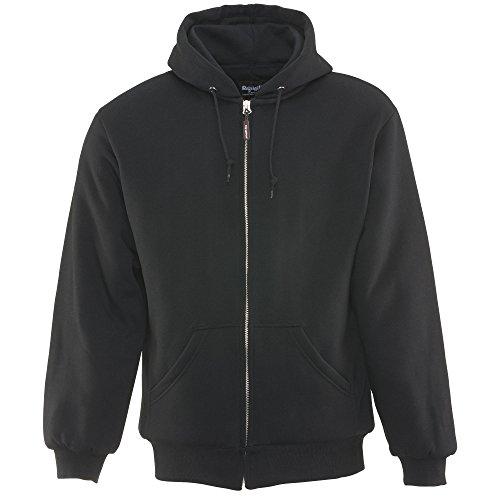 Quilted Mens Hooded Zip Sweatshirt - 1