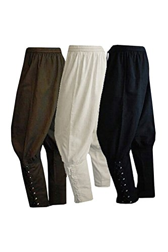 COSMOVIE Men's Viking Pants Medieval Renaissance Gothic Trousers Summer Ankled Banded Pants Pirate Costumes Pants by COSMOVIE