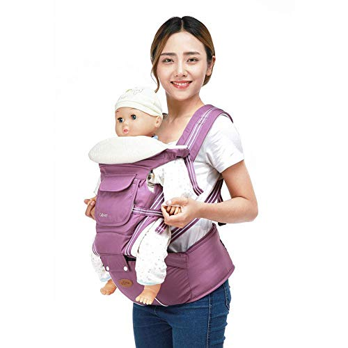 - 1949shop Front and Back Ergonomic Backpack Four Seasons Baby Double Shoulder Strap Child Waist Stool Breathable Multifunction Hold The Belt Backpack. (Color: D) -B