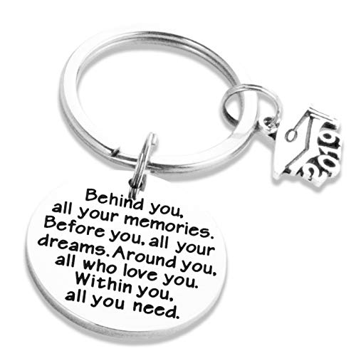 College Grad Gifts for Women Her Grad Keychain 2019 Graduation Gifts Keychains Graduate Student Jewelry for Graduation School Students with Charms from Mom Dad Parents (Best Graduation Gifts From Parents)
