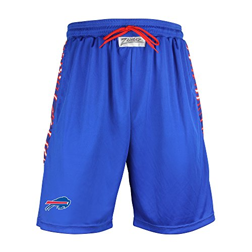 Philadelphia Eagles Shorts - Zubaz NFL Buffalo Bills Men's Zebra Print Accent Team Logo Active Shorts, Large, Blue