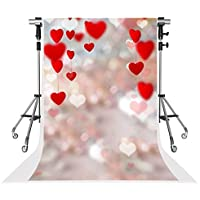 Kate 5x7ft Valentines Day Photography Backdrops Red Love Heart Background for Baby Backdrop Shooting