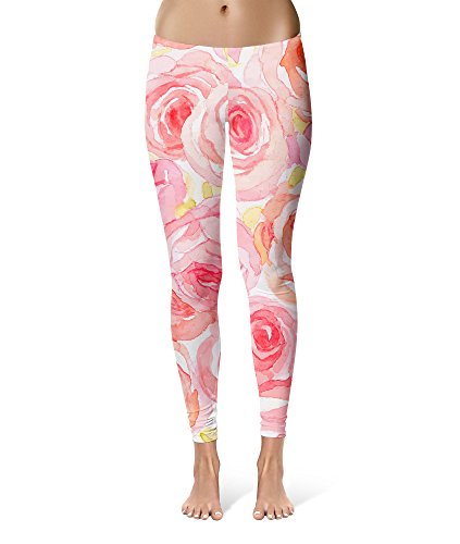 Rule Of Rose Cosplay Costumes - Rainbow Rules Watercolor Roses Sport Leggings