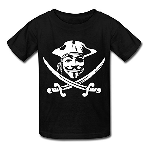 Price comparison product image Losnger Kid's Fantasy Pirate Anonymous T Shirt M