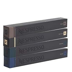 Nespresso jloyC OriginalLine: Kazaar, Dharkan, Ristretto, Roma, 40 Count (2 Pack)