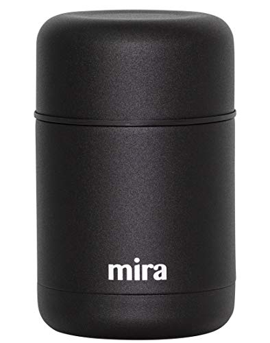 MIRA Lunch, Food Jar, Vacuum Insulated Stainless Steel Lunch Thermos, 20 oz (600 ml), Black