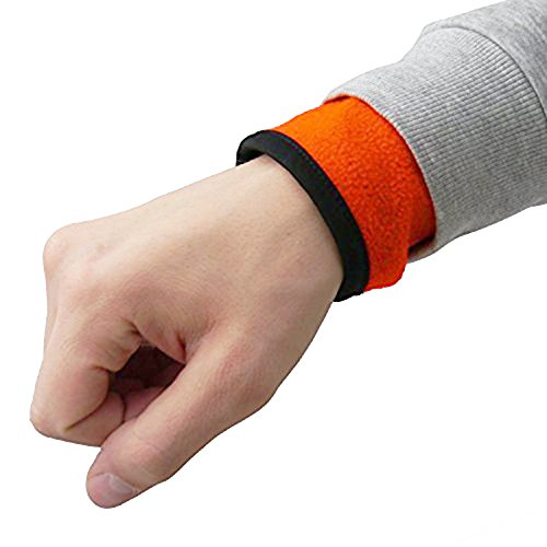Oramics Multifunktions-Armband mit Reissverschluss Geldbeutel Schlüssel Tasche - ideal für Sport - Joggen - Wintersport - Radsport etc (Orange, L)