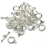 Imagine Perles-Lot de 20 fermoirs T 10 mm argenté