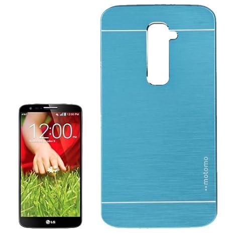 LG G2 - carcasa funda plástico azul Efecto cepillado: Amazon ...