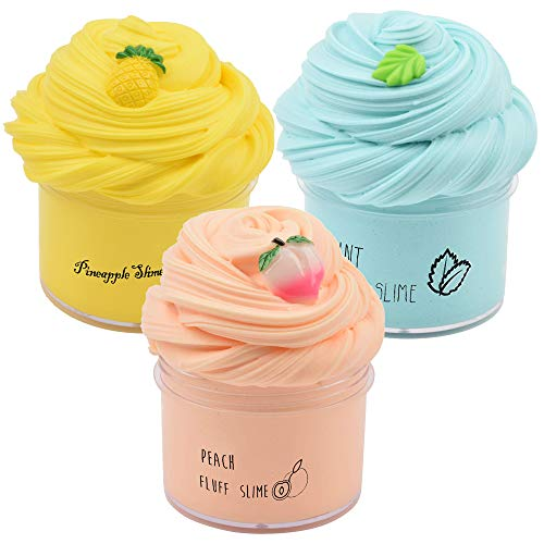 Sunool 3 Pack Butter Slime, Mint Green Leaf, Yellow