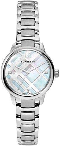 Burberry Women's Swiss Diamond Accent Stainless Steel Bracelet Watch 32mm BU10110