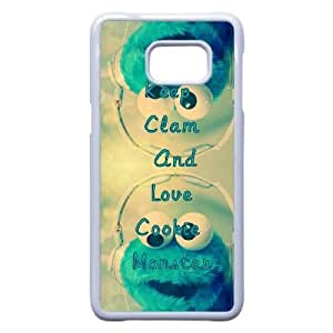 Personalized Durable Cases Samsung Galaxy Note 5 Edge Cell Phone Case White Tmzff Keep Clam And Love Cookie Monster Protection Cover
