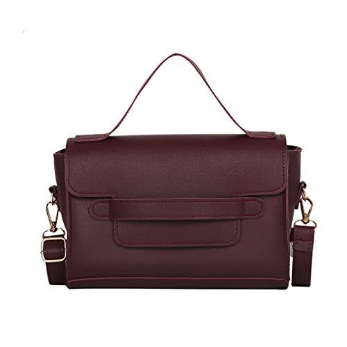 Women's Messenger Bags,YuhooSUN Retro Portable Small Square Bag Simple Wild Shoulder Messenger Bag Adjustable Straps Wine