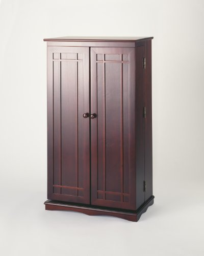 - Leslie Dame CD-612C Solid Oak Multimedia Storage Cabinet with Classic Mission Style Doors, Cherry