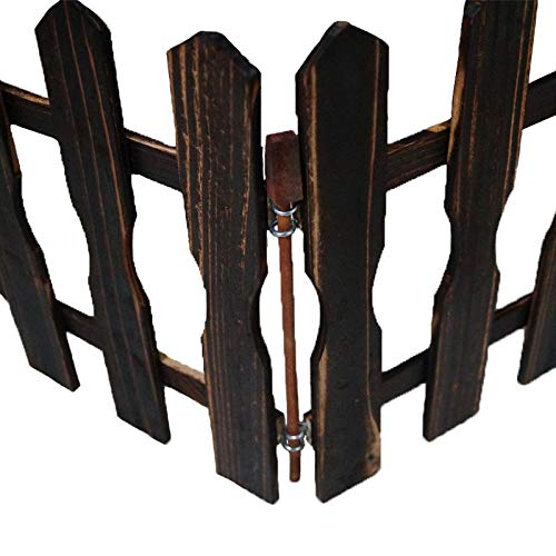 Honfill Free-Standing Wooden Fence Indoor Outdoor Protective Guard Length 47.2 Inches Wedding Party Decoration for Christmas Xmas Tree Home Garden Yard Office Decoration Baby Safety Gift Storage]()