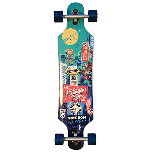 "Madrid Skateboards ""City Scape"" Drop Through Complete Longboard Symmetrical Cruiser 