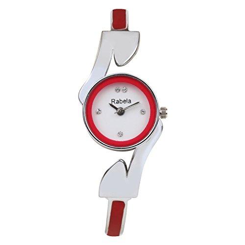 Rabela Analog Red dial women's fusion Watch RABCHKR