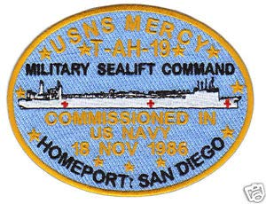 - Military SEALIFT Command Patch, USNS Mercy, T-AH-19, Hospital Ship, SAN Diego Y by HighQ Store