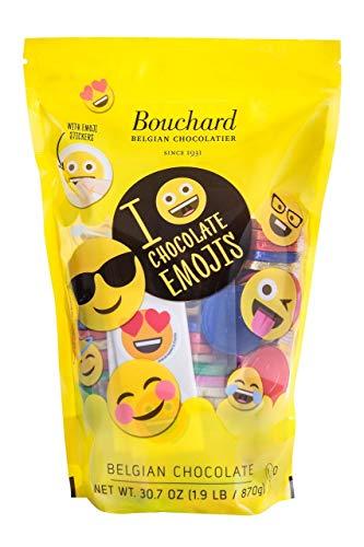 Belgian Chocolates Milk - Product of Bouchard Belgian Milk Chocolate Emoji Coins, 30.7 oz. [Biz Discount]