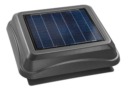 Broan 345SOWW Surface Mount Solar Powered Attic Ventilator, 28-Watt, Weathered Wood