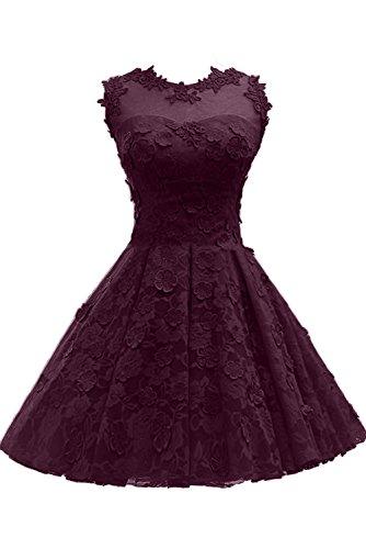 Abendkleider Cocktailkleider Ivydressing Festkleider Partykleider Rot Neu Spitze Kurz Grape 2017 qxxB16wF