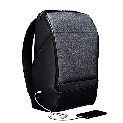 KORIN FlexPack Pro Multifunctional Flexibility Anti-Theft Travel Backpack 15.6 inch Laptop Bag with 2.0 USB Charging Port Large Capacity Waterproof TSA Travel Friendly Easy Convenient Secure