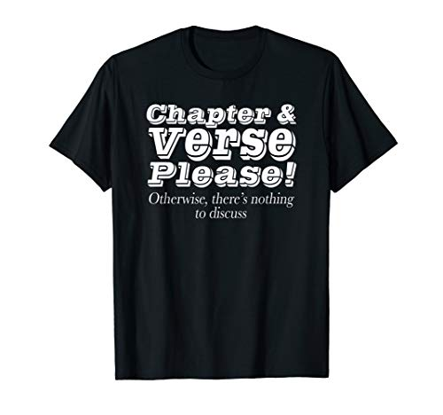 Chapter and Verse Please Christian T-shirt Bible Verse Tees