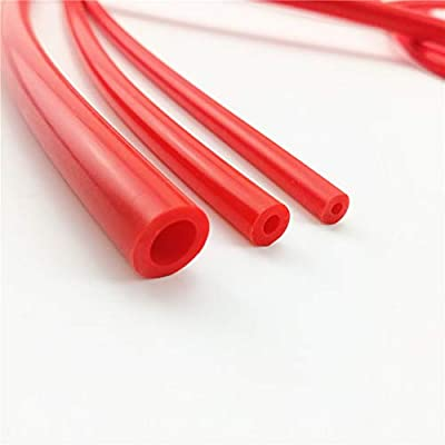 "I33T 10 Feet (3 Meter) Length per reel, ID 8mm (0.31""(5/16) High Performance Silicone Vacuum Hose, OD 14mm (0.55""), Wall Thickness 3mm, Red: Automotive"