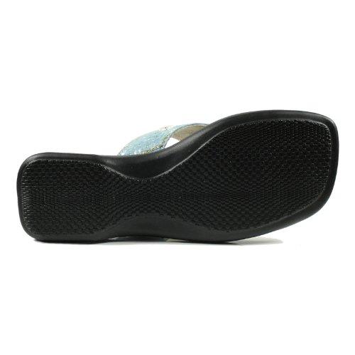 Andrea Doria 31908-946 Mädchen Schuhe Premium Qualität Zehentrenner Blau (Hellblau)