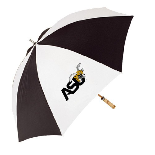 Alabama State 62 Inch Black/White Umbrella 'Official Logo' by CollegeFanGear