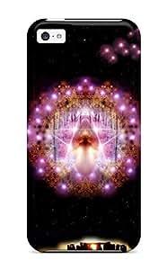 LJF phone case iphone 4/4s Case Cover Skin : Premium High Quality Occult Dark Abstract Dark Case