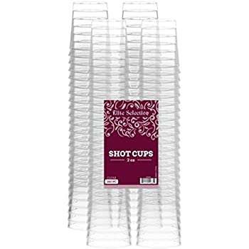 Elite Selection Pack Of 160 Disposable Party Hard Plastic 2 Oz. Shot Glasses Cups
