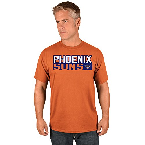 Devin Booker Phoenix Suns #1 NBA Men's Vertical Player T-Shirt Orange - Rocket Sun