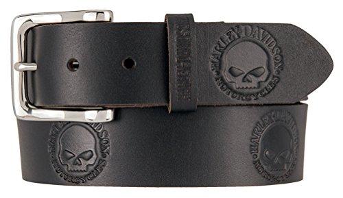 Embossed Skull Belt - 7