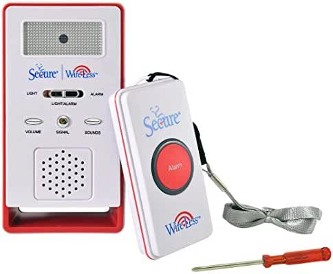 Secure Wireless Remote Nurse Alert System - Patient Call Button and Caregiver Pager - 500+ Ft Range