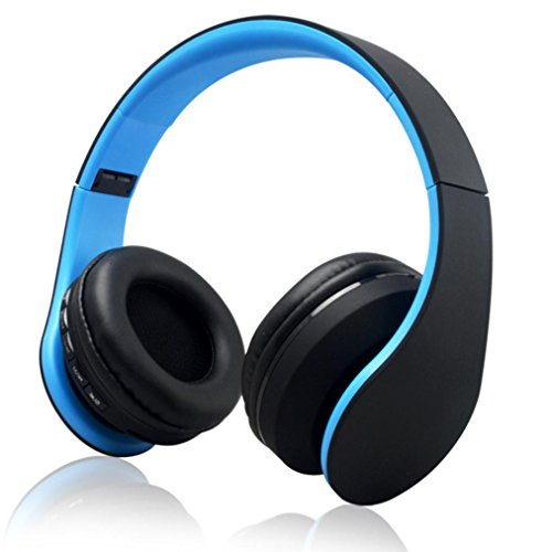 Price comparison product image ONEMORES(TM) Stereo Casque Audio Blutooth Earphone Auriculares Bluetooth Headset Wireless Headphones For iPhone (Blue)