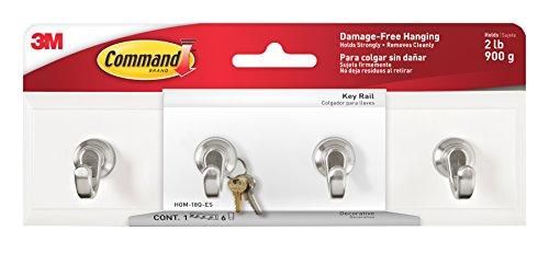 Key Rail (Command Key Rail, Quartz, 1-Rail, 6-Strips (HOM-18Q-ES))