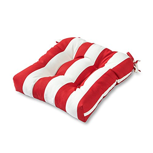 Greendale Home Fashions Indoor/Outdoor Chair Cushion, 20-Inch, Cabana (Stripe Cushion)