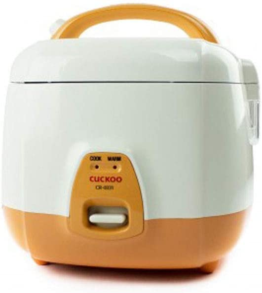 Cuckoo CR-0331 Rice Cooker, 3 Cups Uncooked 1.5 Liters 1.6 Quarts , Orange