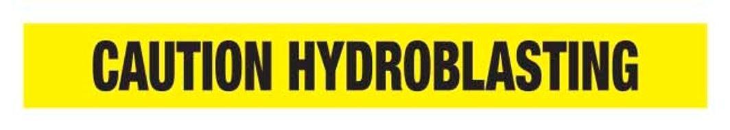 1100-05 Ironwear Barricade Tape 1000-Foot Roll 2.5-Mil Yellow Caution Hydroblasting