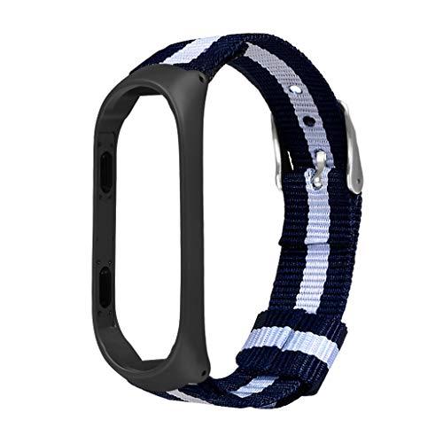 VICCKI Luxury Nylon Ultrathin Metal Wristband Strap Watch Band for Xiaomi Mi Band 4