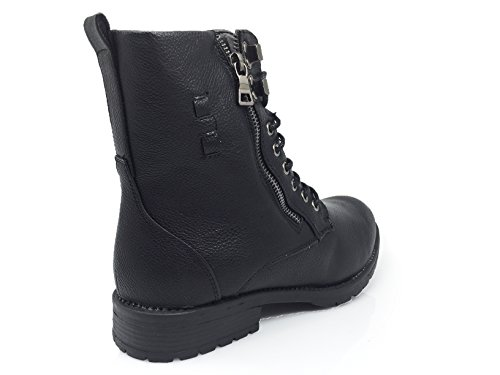 Winter Snow Zipper Resistant Black Side Romeo Heavy Fur Enzo Boots Military Boots Lined Snow Water Storm Duty SH04 Mens 8tUIT
