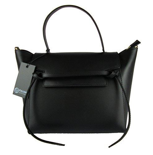 élégant femme cuir en in made noir ceinture Sac italy ispired wvtOqFUnRn