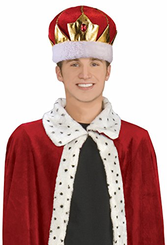 King's Crown Adult Costume Hat (King Of The Kingdom Boys Costume)